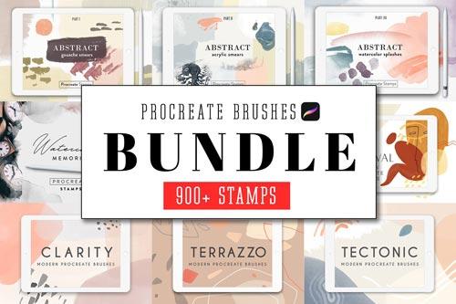 All Procreate Stamp Brushes Bundle.jpg