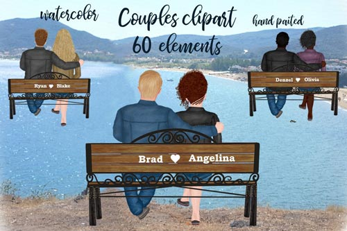 Couple on the bench Custom Couples.jpg