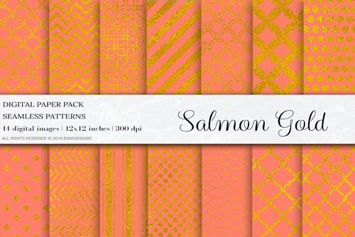 Salmon-Gold-Digital-Papers.jpg