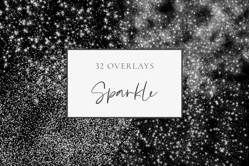 Sparkle, glitter silver photography overlays.jpg