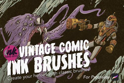 Vintage Comic Ink Brushes.jpg