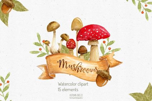 watercolor-mushroom-clipart-jpg.2173